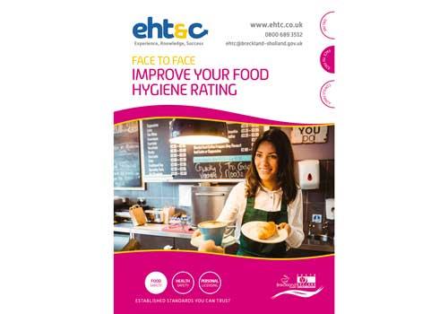 Graphic design for EHTC Food Hygiene leaflet