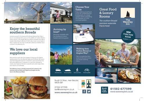 Graphic design - leaflet for The Waveney Inn