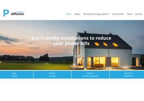 Website design for Power Different