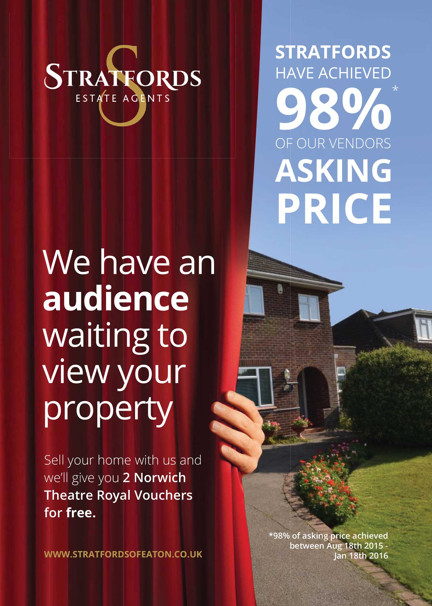 Magazine advert for Stratfords Estate Agents