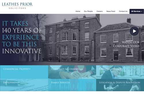 Website design for Leathes Prior solicitors