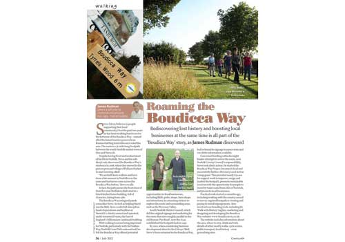 Editorial to raise awareness of the Boudicca Way footpath in south Norfolk