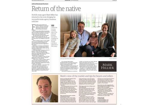 Editorial to launch Mark Hillier Estate Agents, Norfolk